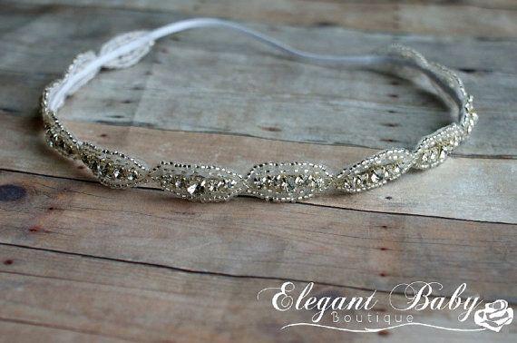 Perles strass Halo serre-tête, mariage, bal, Photo Prop, bandeau de demoiselle d'honneur