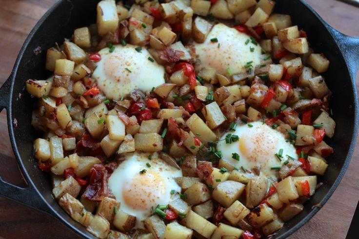 Skillet Potatoes and Eggs | Recipes | Pinterest