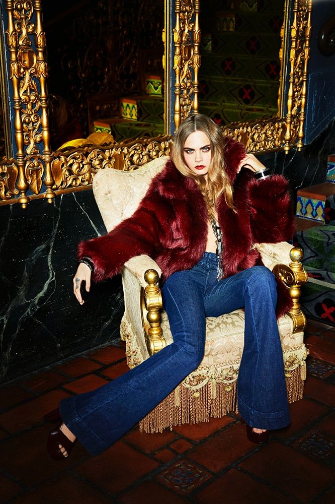 Cara Delevingne Is the Ultimate '70s Babe in Her New Campaign via @WhoWhatWear