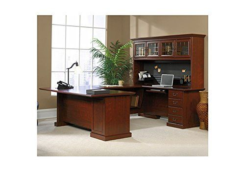 Sauder Office Furniture Heritage Hill Collection Classic Cherry Executive U-Desk with Hutch -  http://www.wahmmo.com/sauder-office-furniture-heritage-hill-collection-classic-cherry-executive-u-desk-with-hutch/ -  - WAHMMO
