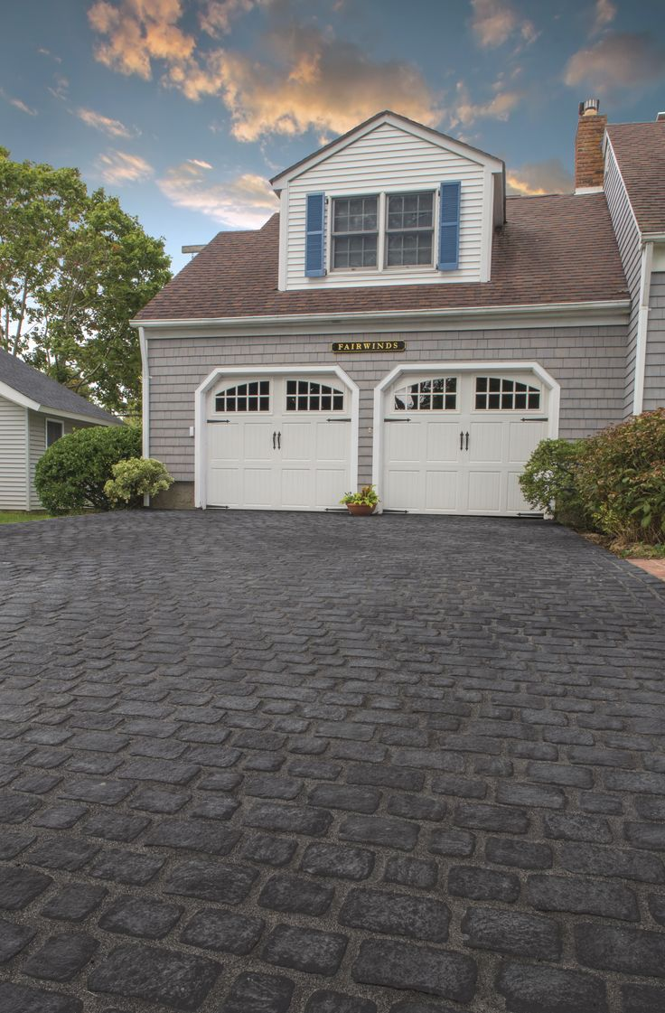 Pave The Way To Your Dream Driveway. This Driveway Was Updated With  Beautiful Cambridge Pavingstones. Cambridge PaversCarriage Doors DrivewaysWalkwaysGarage ...
