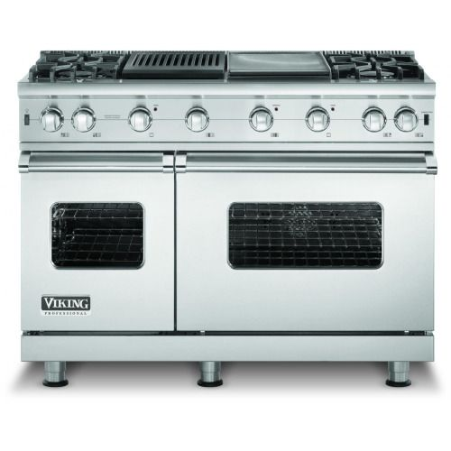 viking 48inch series propane gas range with 4 burners and