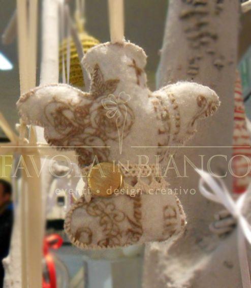 Christmas gifts - angioletto di feltro da appendere fatto a mano