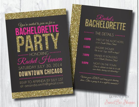 17 Best ideas about Bachelorette Party Invitations on Pinterest ...