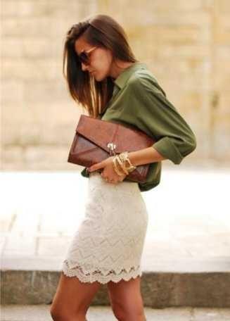 ¿Cómo combinar una falda de encaje? | Web de la Moda