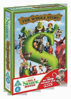 Win Shrek: The Whole Story Boxset on DVD, the girls would love it