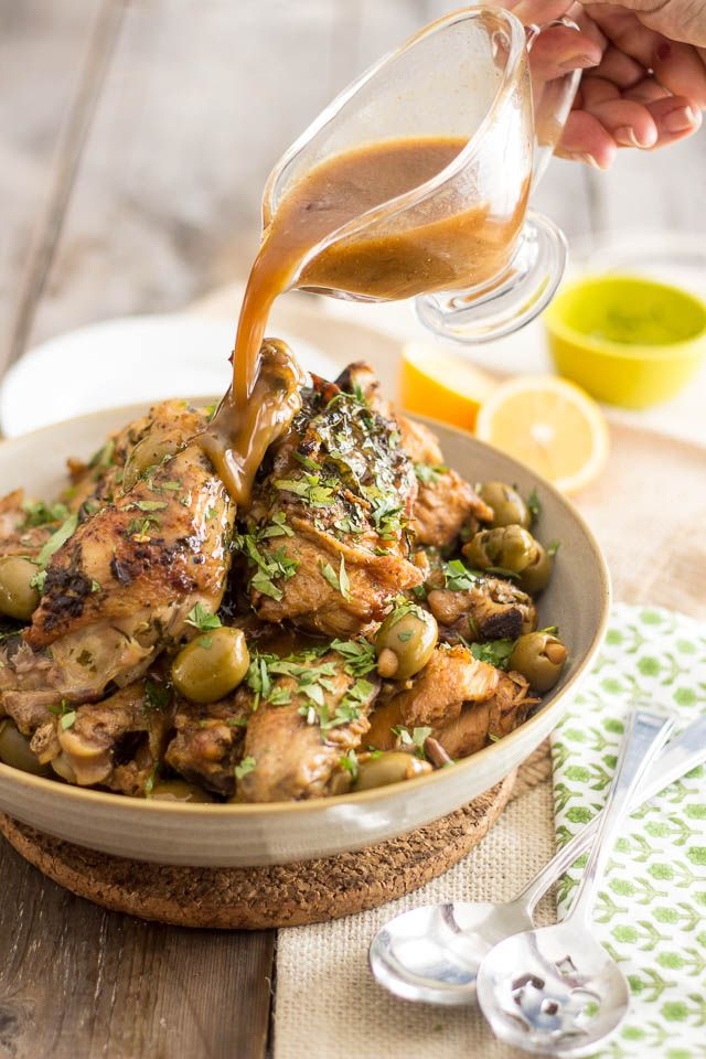 Moroccan Chicken with Olives |www.thehealthyfoodie.com
