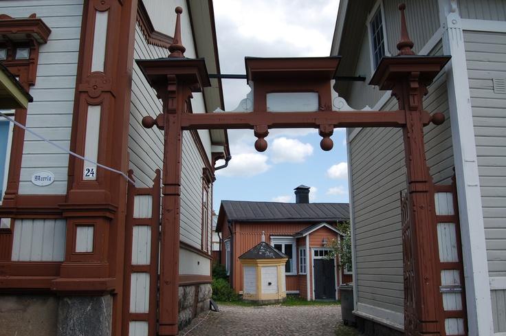 Idyllic Old Rauma, Finland.