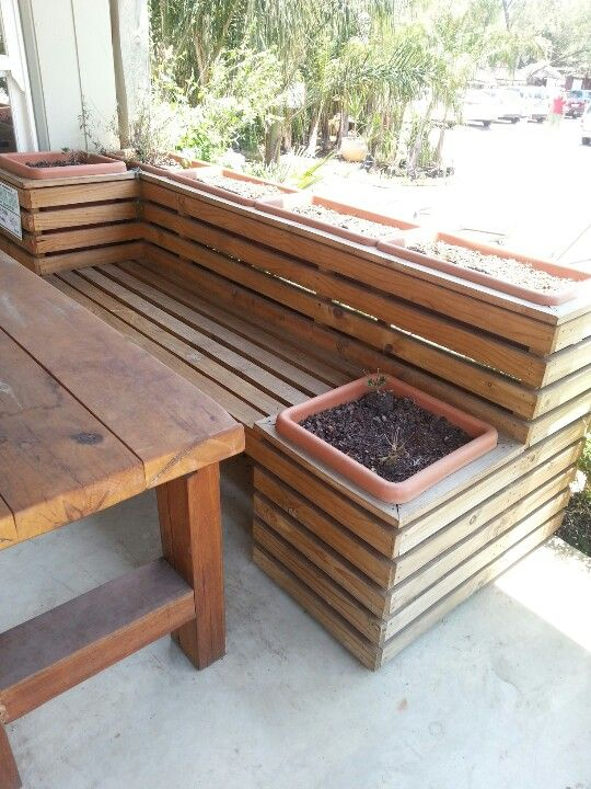 1000 Ideas About Planter Bench On Pinterest Garden