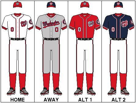 washington nationals uniforms
