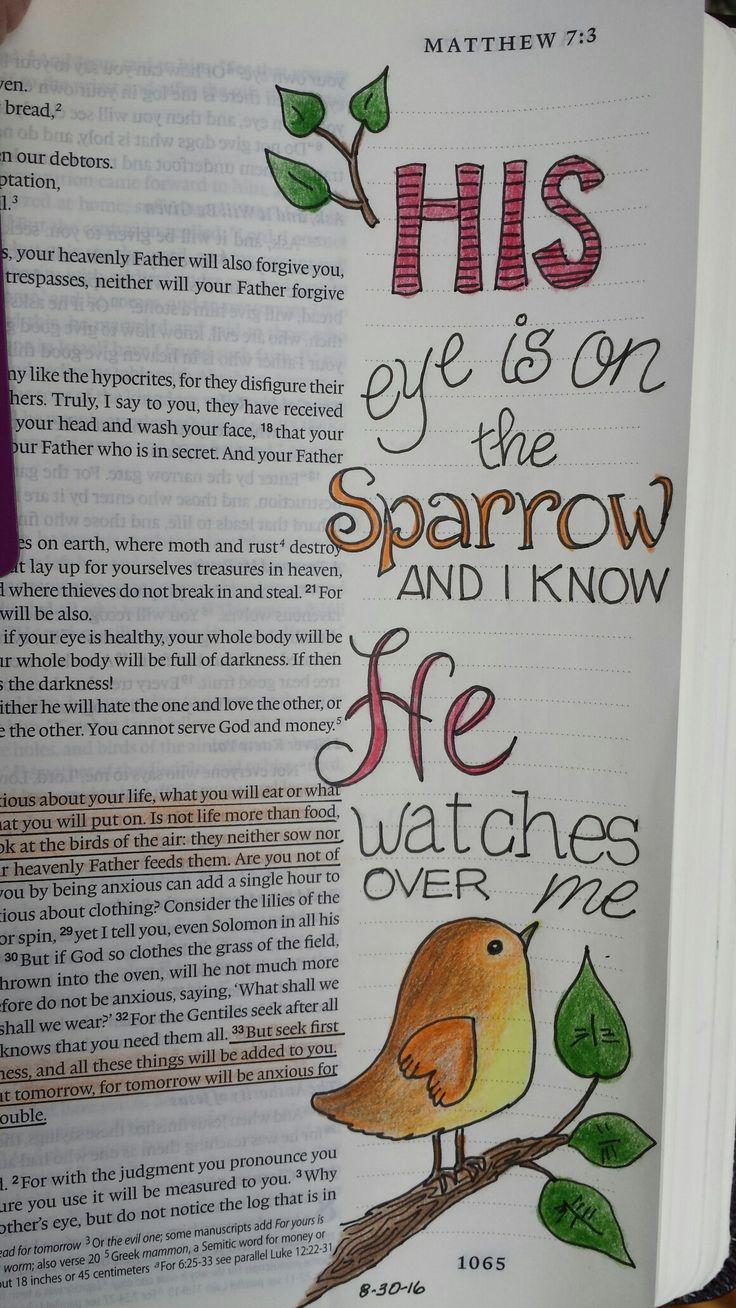 Eye is on sparrow Matt. 6:25-34
