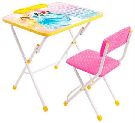 Ника Nk.комплект disney 3-принцесса  — 1854р. ------------------ складной стол (h 570 мм)  - пенал - складной стул с мягким сиденьем из легко-   моющейся ткани  - группа роста 1300-1450 мм