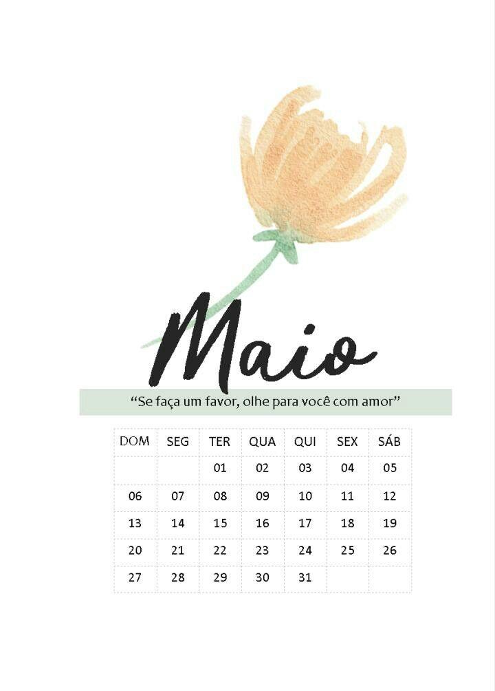 Divisoria Maio Com Calendario Planner Clean Planner Adesivo