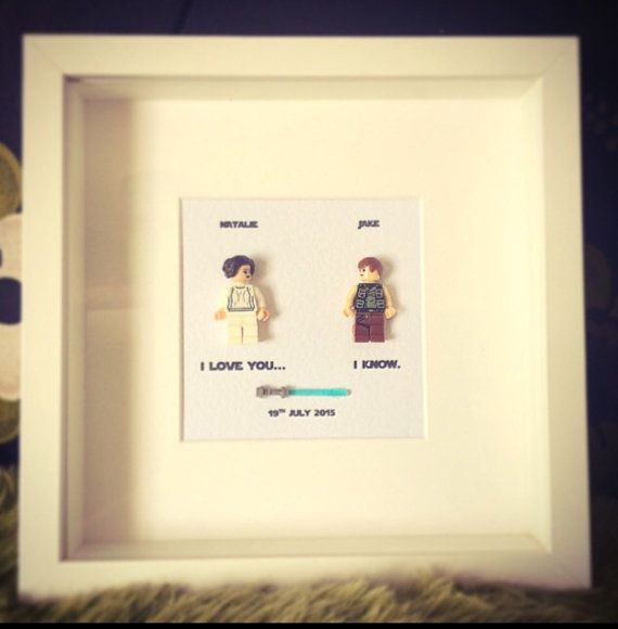 Star Wars I Love You Know Princess Leia And Han Solo Lego Replica Personalised Frame Picture Engagement Or Wedding Gift Valentines Day