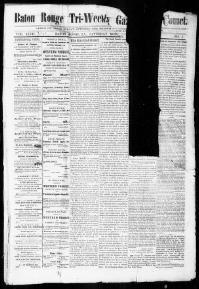 EAST BATON ROUGE PARISH, Louisiana - Baton Rouge - 1865 -18?? - Baton Rouge Tri-Weekly Gazette & Comet.   Chronicling America « Library of Congress