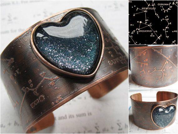 Constellation Cuff Physics Jewelry Science by DarkMatterJewelry, $49.00