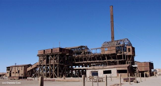 Salitrera  Santa Laura norte de chile uno de 5 lugares en chile  que la UNESCO ha reconocido  como Patrimonio  cultural Mundial