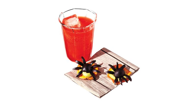 For the full Halloween experience, serve these horror d'oeuvres with a Bloody Fizz cocktail.