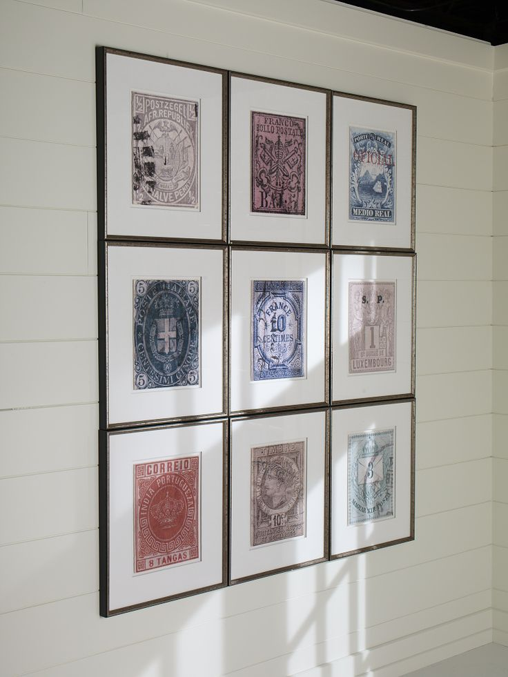 copy and blow up foreign money for cool wall art. could do same with stamps, like here