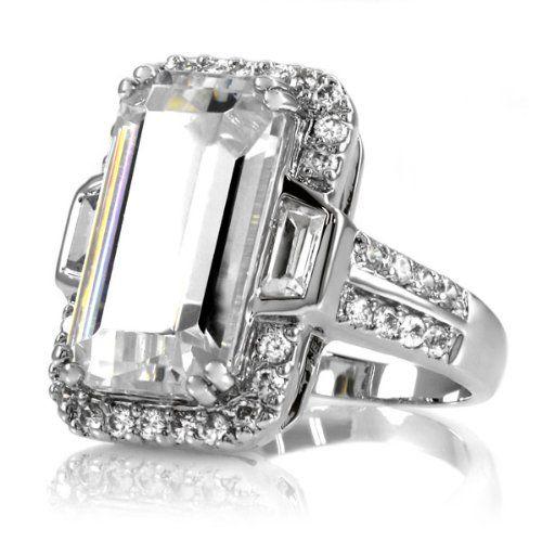 2 Million Dollar Ring Kim Kardashian Inspired Engagement 20 Tcw Large It Was