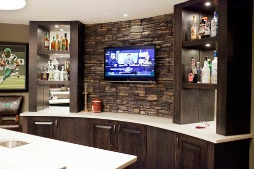 Contemporary Basement Bar Design, Pictures, Remodel, Decor and Ideas - page 12