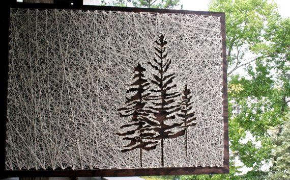 Arte de la cadena del árbol 26 x 18 Pino cadena por DistantRealms