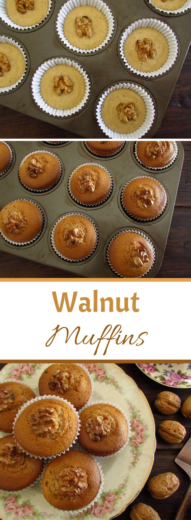 Walnut muffins | Food From Portugal. If you like dried fruits we have an excellent recipe to present to you, walnut muffins! They are quite tasty and have a fantastic presentation! At a party among friends this walnut muffins are going to make success!! Dare yourself! #muffins #recipe