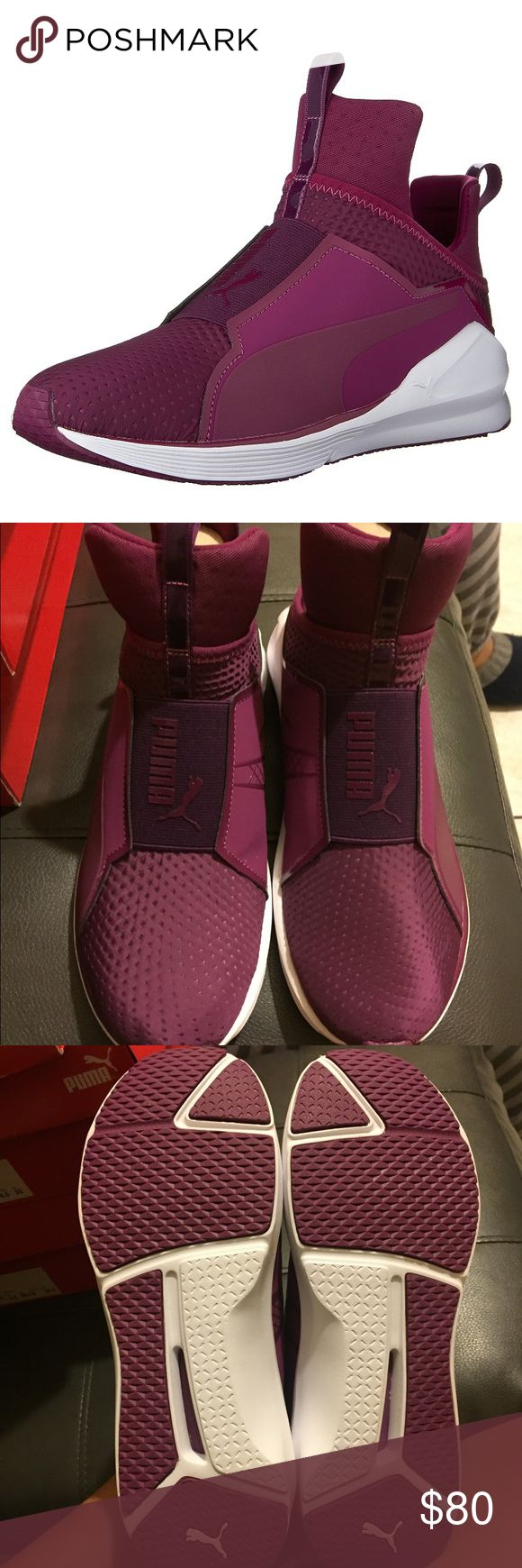 NEW PUMA FIERCE QUILTED MAGENTA PURPLE WMNS 9 New with box. Authentic. Color is magenta purple. Women's size 9. These shoes do not have shoe laces. No defects. Puma Shoes Sneakers