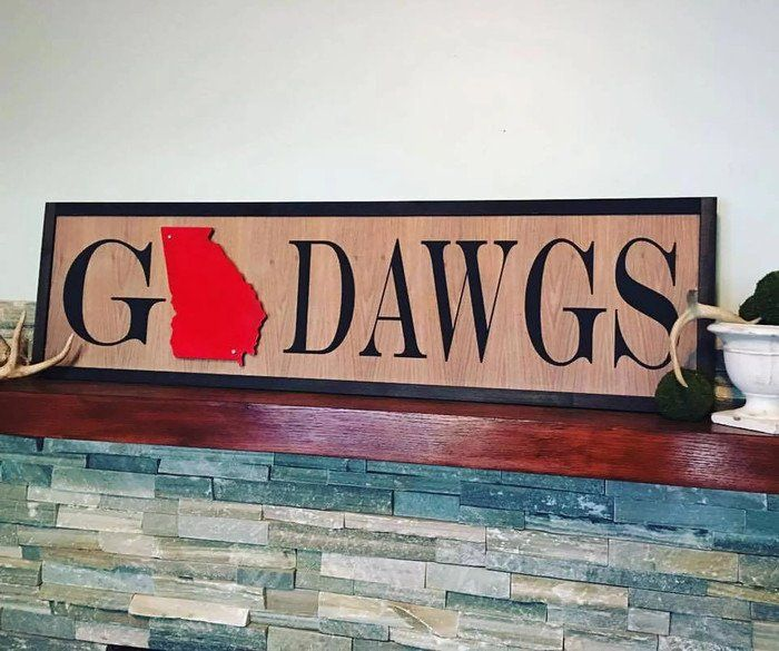 Georgia Bulldogs Wall Art Gift For Ga Bulldogs Fans Go Dawgs Sign By Southernmerleco On Etsy Who S Ready For Some Uga Wall Art Gift Dawgs Handmade Home Decor