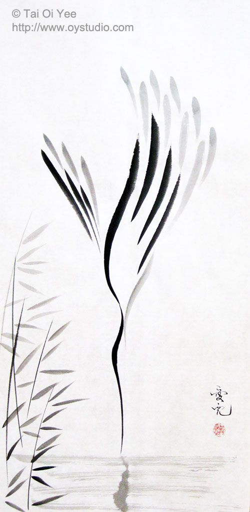 Original Sumi-e For Sale- Tai Oi Yee's Chinese Ink Painting Gallery 戴愛兒 - 簡約寫意水墨畫