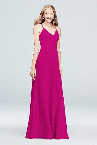 f4a8aac05614 View Spaghetti Strap V Neck Bridesmaid Dress at David's Bridal | Ski ...