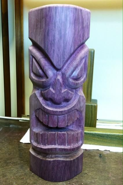 Secret Squirrel Tiki Carving -- Tiki Central