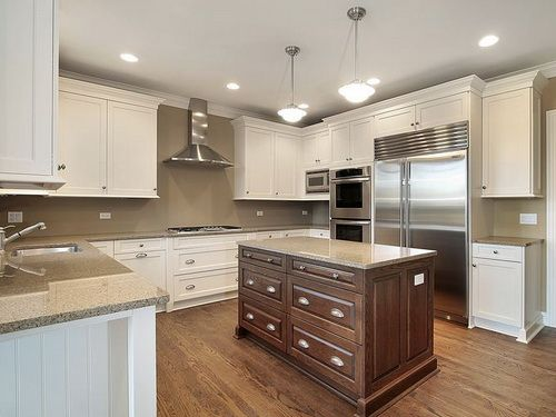 Two toned white kitchen cabinets ideas kitchen cabinets for Two tone wood cabinets