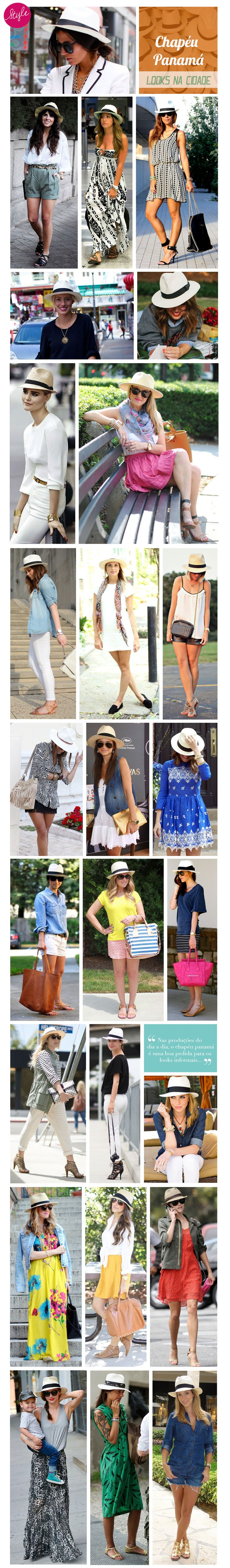 Looks - fashion - panamá hats - chapéu panamá - style - inspiration - estilo - how to wear