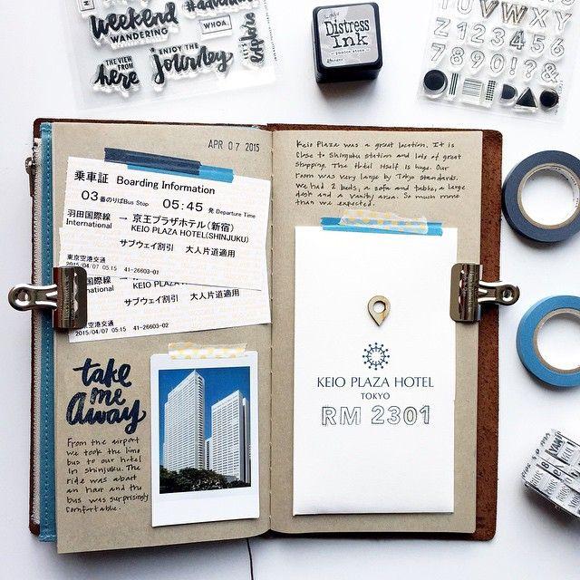 Tokyo Scrapbook in my Midori Traveler's Notebook                              …