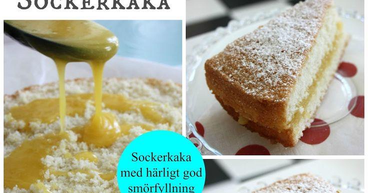 Tjoho, här kommer ett nytt riktigt bra recept i kategorin EDITHS BÄSTA >> En enkel sockerkaka med helt galet god smörfyllning :D Ni må...