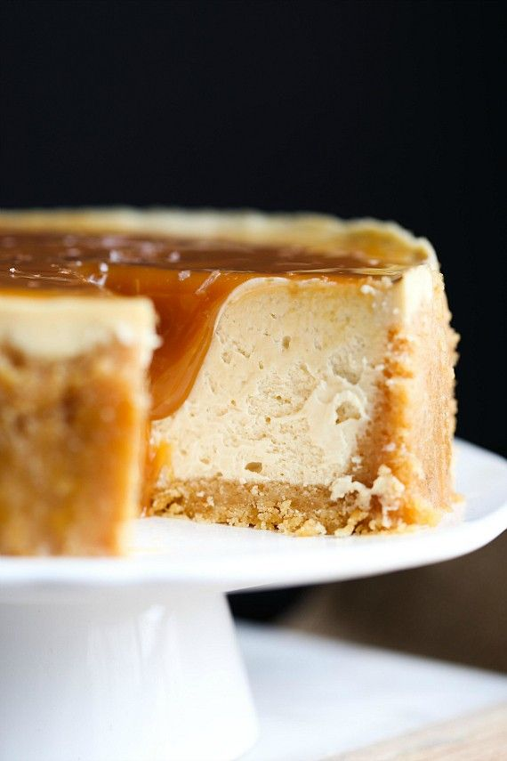 This Instant Pot Salted Caramel Cheesecake was made in the pressure cooker! The crust is buttery, salty Ritz crackers and the cheesecake is the creamiest you will ever eat! Making this in the pressure cooker was SO easy!
