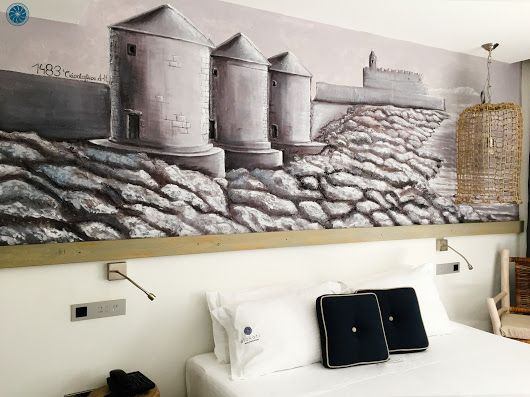 #Handmade Engraved Wall in the room #Milos ! Book your stay at #Elakati through our website, get 20% off and live the #elakatiexperience http://www.elakati.com/ #Rhodes #Greece #OnTripAdvisor
