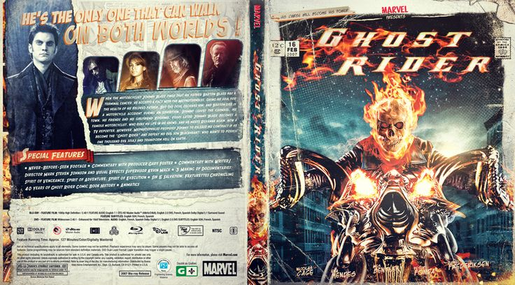 Ghost Rider Custom Blu-ray Cover