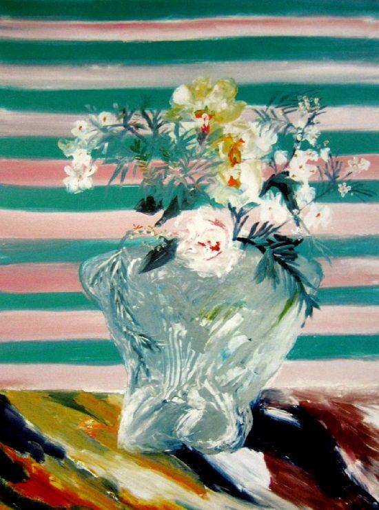 Sidney Nolan: Roses in a Merric Boyd Vase (1978-1982)