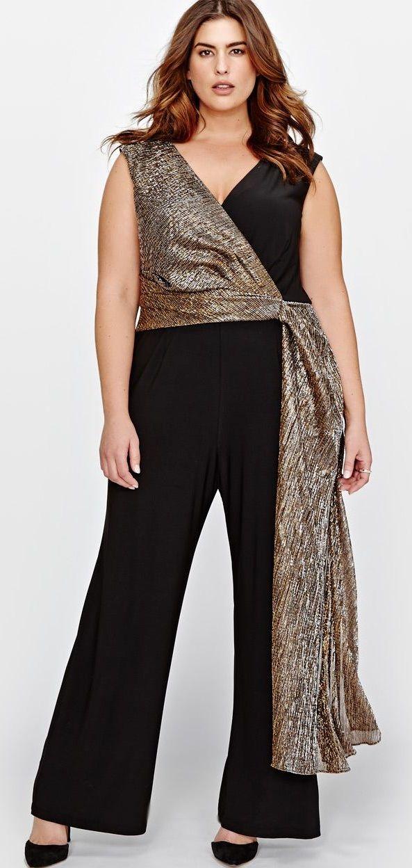 Plus Size Jumpsuit - Plus Size Fashion for Women #plussizze