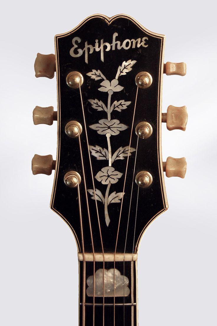 Vintage 1941 Epiphone De Luxe Archtop Guitar Headstock