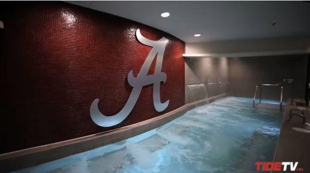 the locker room in alabama   Alabama Unveils New $9 Million Football Locker Room (Video)   Robert ...