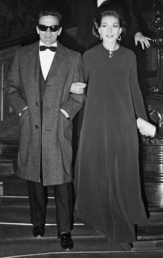 Pier Paolo Pasolini and Maria Callas at the Medea premiere in Paris.