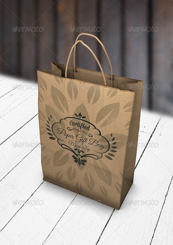Download Paper Gift Bag Mock Up Eco Gift Bag Mockup Paper Gift Bags Paper Gifts Bag Mockup