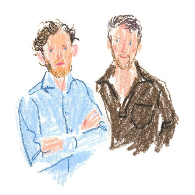 Erwan & Ronan Bouroullec sketched by Damien Florébert Cuypers. Check the…