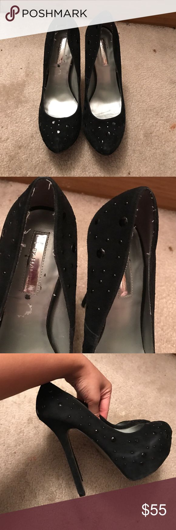 Black rhinestone H by Halston They are in good condition still H by Halston Shoes Heels