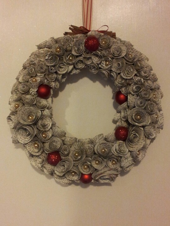 My book page wreath.