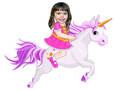 """our personalized book """"Your Child in Dreamland"""", girl version, unicorn"""