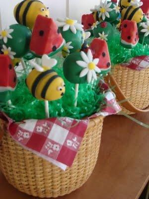 Sweet Treats by Bonnie: Summer Picnic Cake Pop Bouquet